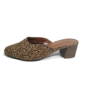 Animal Print Slide On